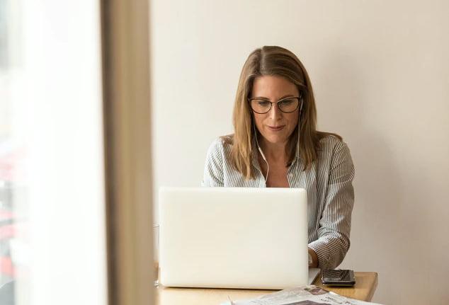Executive on laptop