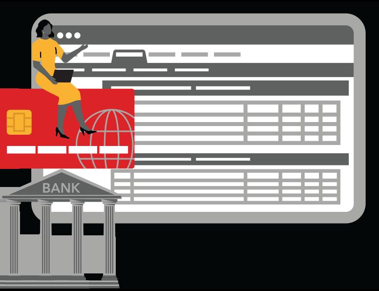 bank monitor graphic